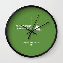 Perfect Logo Series (3 of 11) - Green Wall Clock