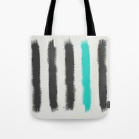 the strokes Tote Bags featuring Paint Strokes  by Zeke Tucker