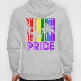 West Palm Beach Pride Gay Pride LGBTQ Rainbow Palm Trees Hoody