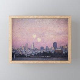 Where We Left Our Hearts Framed Mini Art Print