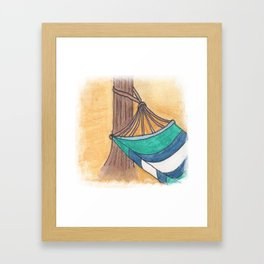 Just Swaying Away-Watercolor Hammock Design Framed Art Print