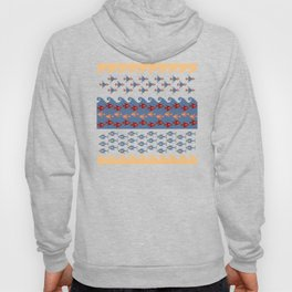 Inca Ethnic Pattern Fish and Birds Hoody