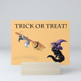 Lessons in Witchery (Trick or Treat) Mini Art Print
