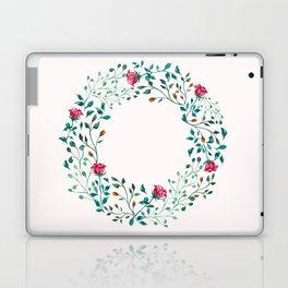 Spring Roses Wreath Pink Blush Laptop & iPad Skin