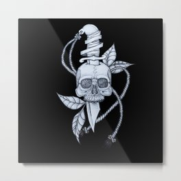 Headache (black background) Metal Print