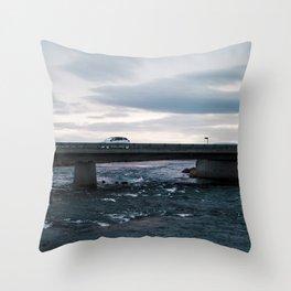Iceland Bridge Throw Pillow