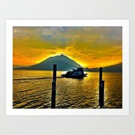 Lake Como Magic Art Print