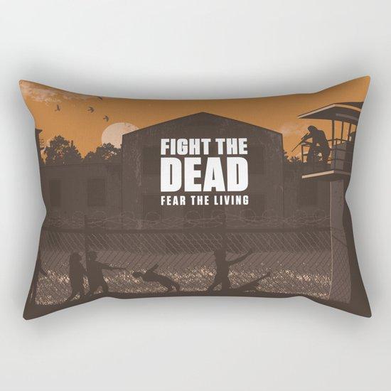 The Walking Dead Prison Walkers Rectangular Pillow