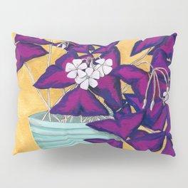 Purple Shamrock Houseplant Painting Pillow Sham