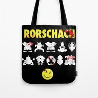 rorschach Tote Bags featuring Rorschach by Gabriel Freire