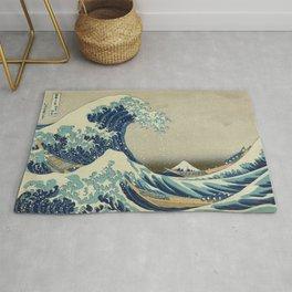 Ukiyo-e, Under the Wave off Kanagawa, Katsushika Hokusai Rug