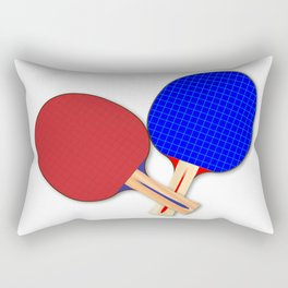 Two Table Tennis Bats Rectangular Pillow
