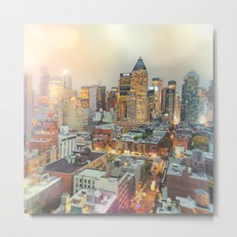 All Those Lights, They Shine For You - New York City Metal Print