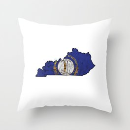 Kentucky City Country State Nationalism Patriotic Flag Symbols Throw Pillow