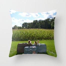 Luggage Throw Pillow