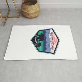 A Bear As A Forest And Saves The Environment As A Retro Vintage Rug