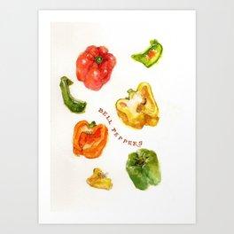 Bell Peppers Art Print