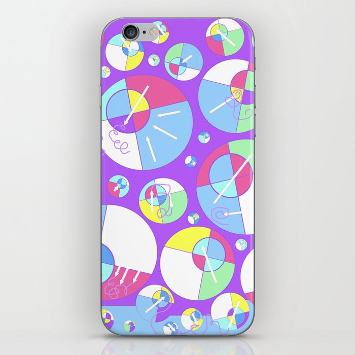 Bubble Purple iPhone Skin