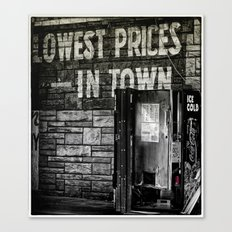 Lowest Prices in Town Canvas Print