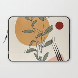 Minimal Line Young Leaves Laptop Sleeve
