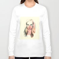 cara Long Sleeve T-shirts featuring Cara by Beth Zimmerman Illustration