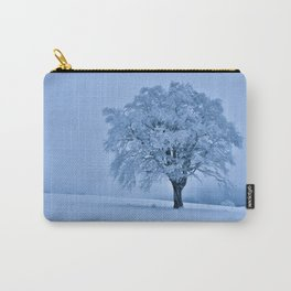 Solitary Snow Tree - Landscape Photograhpy Carry-All Pouch
