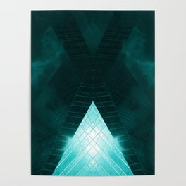 Turquoise skyscraper mill V WH Poster