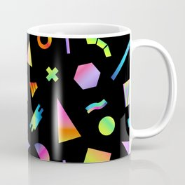 Neon Gradient Postmodern Shapes Coffee Mug