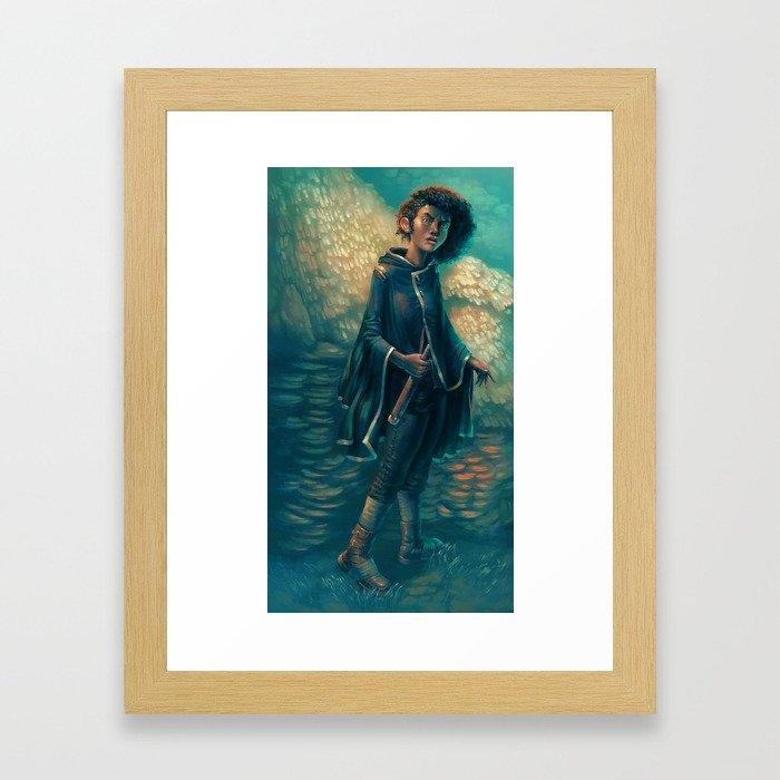 The Girl in Black Framed Art Print