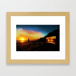 Boom Box Sunset Framed Art Print
