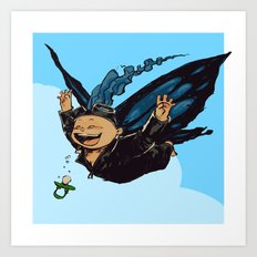 Butterfly boy Art Print