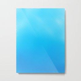 Ripples Cool Blue Drip Metal Print
