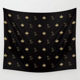 Maple Leafs - Black Wall Tapestry