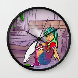 Purple Blazed, Smoking Lady Series Wall Clock