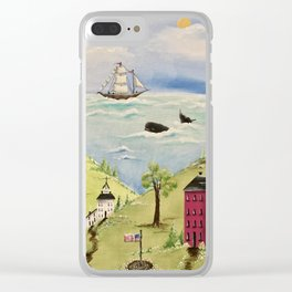 Whale Watching Clear iPhone Case