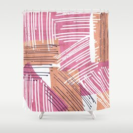Big Sketch Collage Shower Curtain