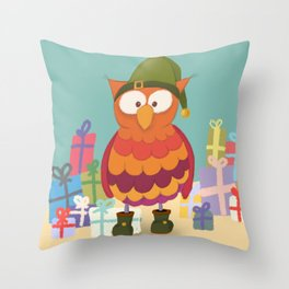 Weihnachtself Ulf Throw Pillow