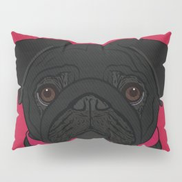 Icons of the Dog Park: Black Pug Design in Bold Colors for Pet Lovers Pillow Sham