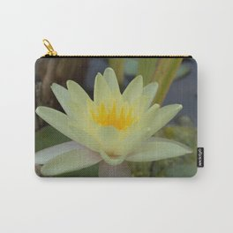 Pale Yellow Lotus Blossom Carry-All Pouch