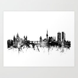 Prague (Praha) Czech Republic Skyline Art Print