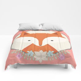 Fox in a frame Comforters