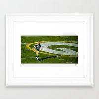 nfl Framed Art Prints featuring NFL MVP Aaron Rodgers by David Konieczko