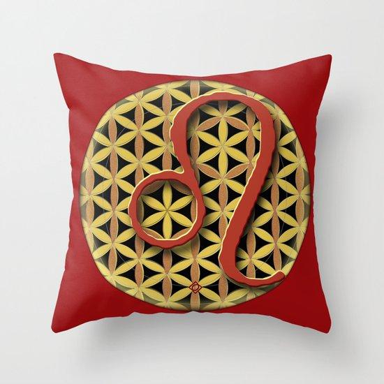Flower of Life LEO Astrology Design Throw Pillow