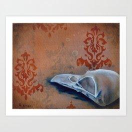 Oil Paint Study - Magpie Pattern Art Print