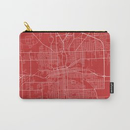 Fort Wayne Map, USA - Red Carry-All Pouch
