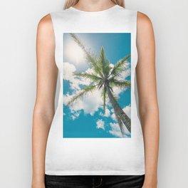 Best Summer Ever - Tropical Palm Trees Biker Tank