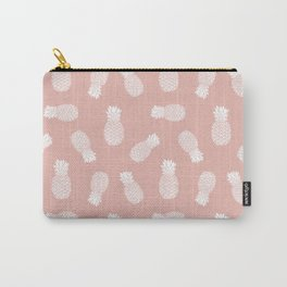 Rose Gold Pineapple Pattern Carry-All Pouch