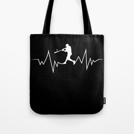 Baseball Heartbeat product Cool Gift for Sport Lovers Tote Bag