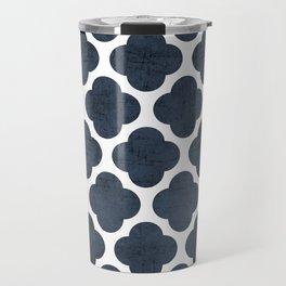 navy clover Travel Mug