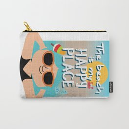 The beach is my happy place Carry-All Pouch